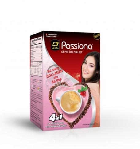 Cà phê Passiona hòa tan 4in1 hộp 14 gói 16gr