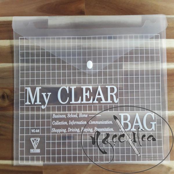 Bìa Nhựa Nút My Clear