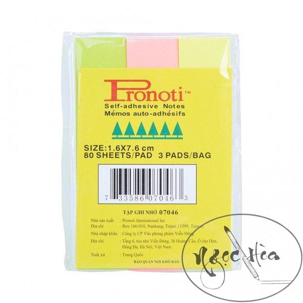 Giấy Note 3 Màu Pronoti 1.6*7.6